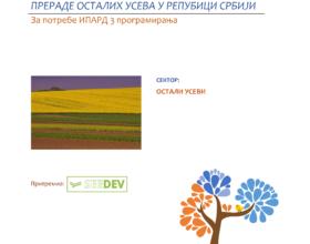 СЕКТОРСКА АНАЛИЗА ПРОИЗВОДЊА И ПРЕРАДЕ ОСТАЛИХ УСЕВА У РЕПУБИЦИ СРБИЈИ